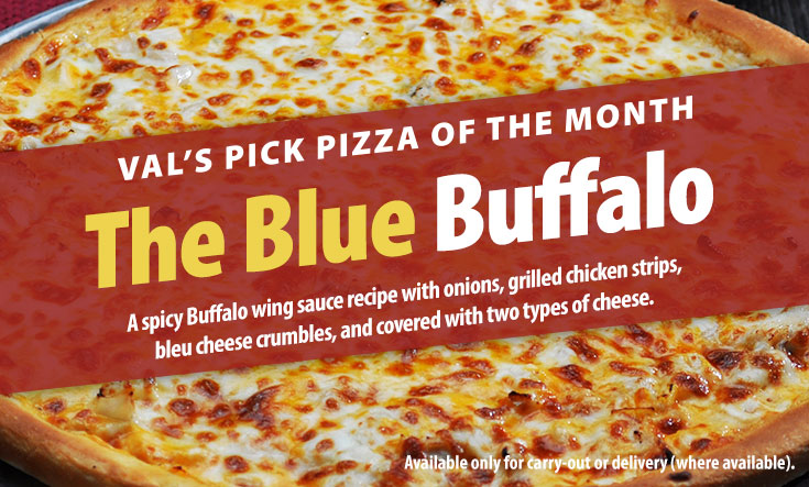 Pizza of the Month - The Blue Buffalo