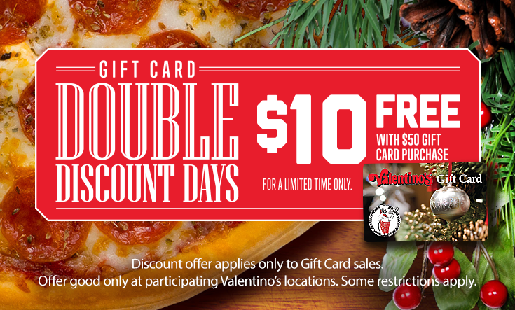 Double Discount Days - $10 Free with $50 Gift Card Purchase